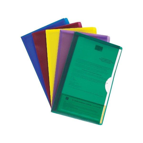 彩色文件夹 5个装