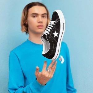 6.5折 封面款£35起Converse 精选运动鞋折扣热卖 One Star、厚底鞋全都有