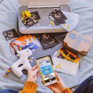 学生低至6.5折 套餐送墨盒HP 惠普打印机 家庭办公、口袋打印 文件、贴纸、照片都可