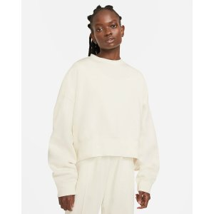 Nike基础款奶油色卫衣