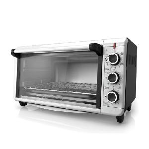 $79.99包邮(原价$144.16)BLACK+DECKER 超宽不锈钢电烤箱 可烤12寸披萨