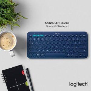 $29.99 (原价$49.99)高颜值键盘: Logitech K380 蓝牙键盘 蓝色/黑色可选