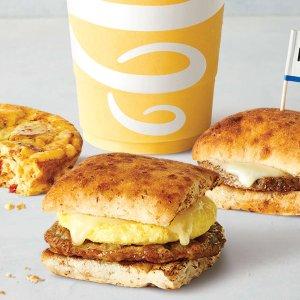 $4.09起上新:Jamba Juice 3款营养早餐 素食肉饼三明治$4.19