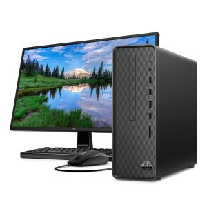 "$399 w/ 24"" monitorHP Slim S01-pF1046b Desktop PC Bundle  (i3-10100, 8GB, 256GB)"