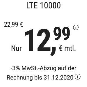 月租仅€12.99 减免€19.99接通费大流量更划算!包月电话/短信+10GB上网+欧盟漫游