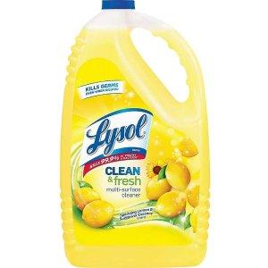 $20Lysol 多用途杀菌消毒清洁剂柠檬花香超大瓶 144oz