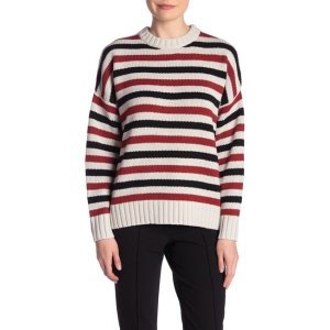 360 CASHMEREColorblock Stripe Knit Sweater