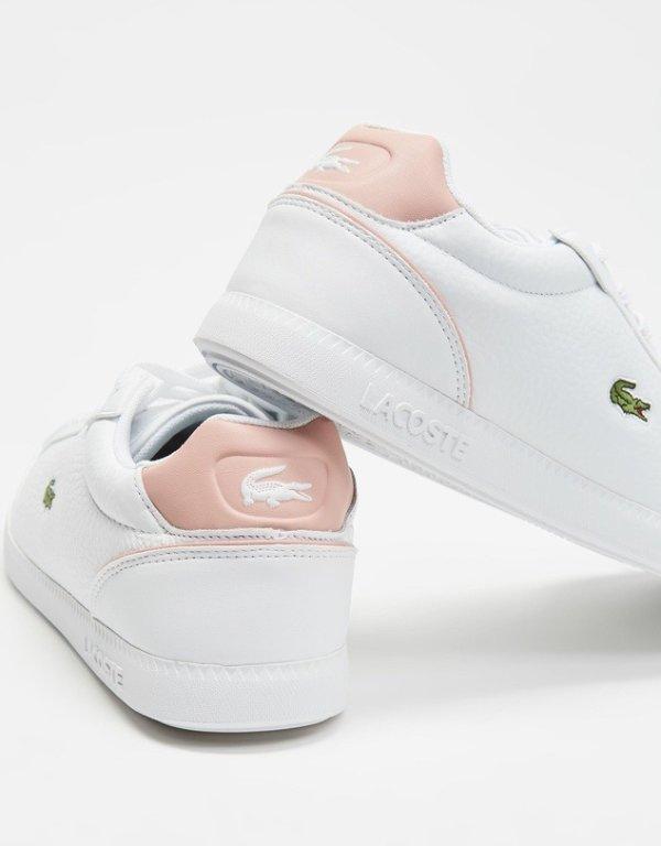 Graduate Cap粉尾小白鞋
