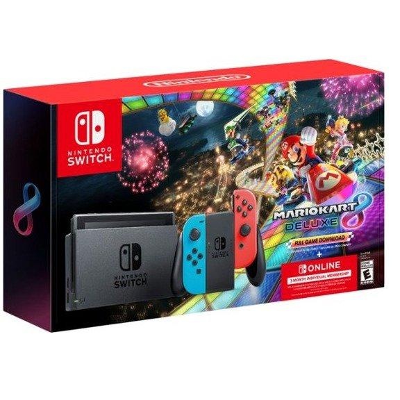 Nintendo Switch 红蓝 + 马车8 + 3个月会员
