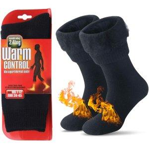 限时闪促 €11收加厚加绒JARSEEN 羊毛控温保暖袜 这个冬天妈妈再也不用担心我着凉