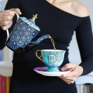 5折起T2 英式茶具专场闪购  复古花卉套装$20