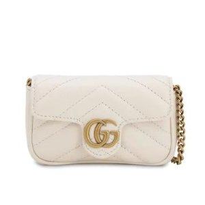 白色补货!封面同款£385收!手慢无Gucci 新款水桶包包上市 Marmont双G系列 SYLVIE系列都有
