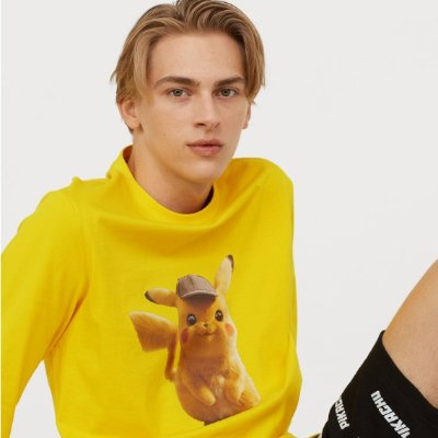 As Low As $3.99 + Free ShippingH&M Men's Clothes on Sale Pikachu Shirt $12.99