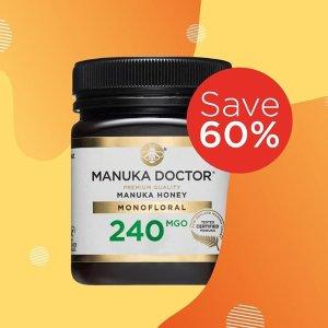 低至4折!£10收麦卢卡蜂蜜!限今天:Manuka Doctor 官网限时折扣 蜂蜜大家族热卖中