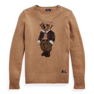 Ralph Lauren小熊羊毛混纺毛衣
