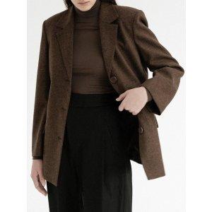 AmomentoSingle Breasted Wool Jacket