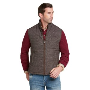 Reserve Collection Tailored Fit Tweed Vest CLEARANCE