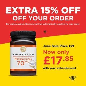 低至2折起+额外8.5折Manuka Doctor 夏季大促折上折 滋补养胃、肠道通畅好帮手