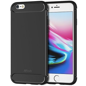57a82f9e8974 JETechCase for iPhone 6s iPhone 6 Protective Cover with Shock-Absorption  and Carbon Fiber Design.  7.99. JETech Case ...