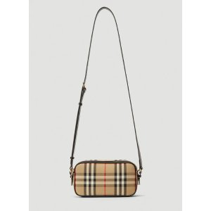 BurberryVintage Check Mini Camera Bag in Beige