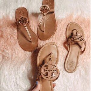 低至5折 经典人字拖€32Tory Burch 美鞋大促专区 明星 Logo芭蕾鞋也参加