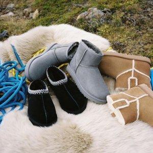 全场7.5折!UGG 过冬必备雪地靴、毛绒鞋、豆豆鞋上新啦