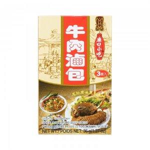 台湾小磨坊 庙口小吃 牛肉卤包 3套入/36g -  美国德成行