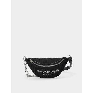 Alexander WangAttica Soft Ruched Fanny Pack in Black Nylon