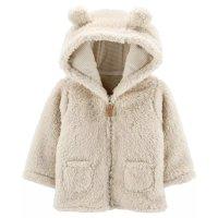 嬰兒羊羔絨連帽保暖外套