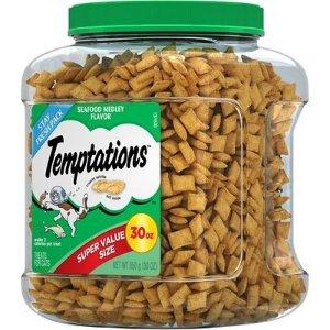 $7.57(原价$15.79)史低价:Temptations 猫咪小零食 30盎司