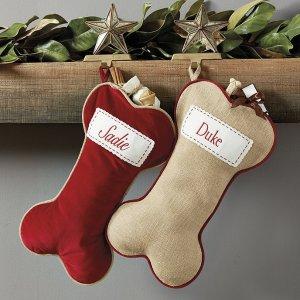 Burlap 圣诞袜