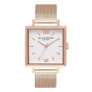 Olivia Burton方型金色复古手表
