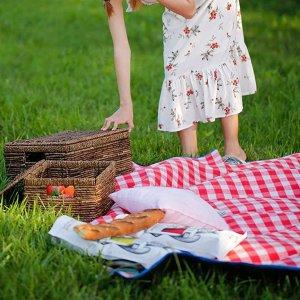 限时特惠 €17.99入野餐垫春游野餐必备清单:野餐垫、野餐篮、外带餐盘等一帖搞定