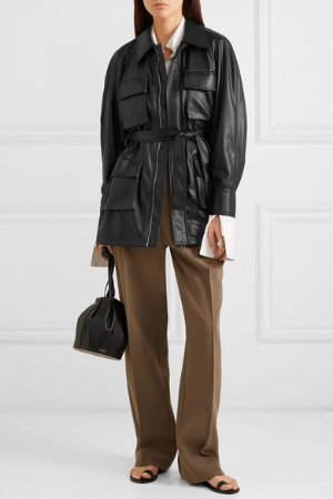 LOW CLASSIC | Belted faux leather jacket | NET-A-PORTER.COM