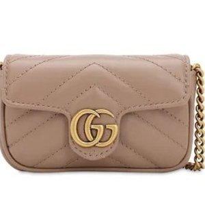 $750 奶茶色、红色、黑色、粉色都有货!上新:Gucci  GG MARMONT 手包链条包二合一 抢先官网一步!
