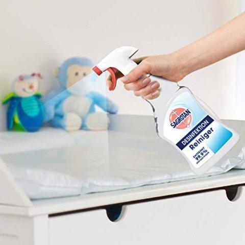 补货啦~现价€3.99Sagrotan 消毒清洁剂 去除99.9%的细菌、特殊病毒和90%的过敏原