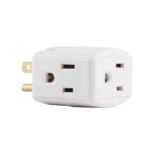 $4.36GE Wall Tap, 1, Extra-Wide Adapter Spaced, Easy Access Design, 3 Prong Outlet, Perfect for Travel, UL Listed, White, 58368 @ Amazon
