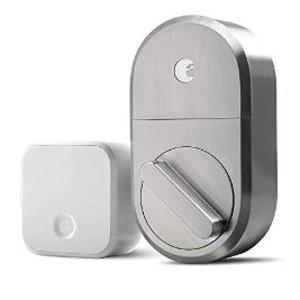 $145.32 支持语音控制August Smart Lock 桥接器 智能门锁套装