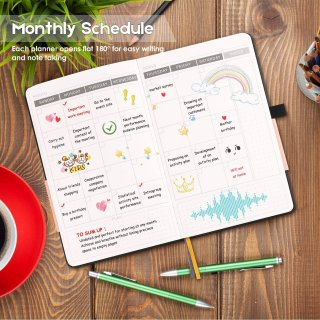 Planner 2019 2020, Undated 12 Month Daily Planner