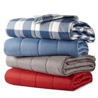 $9.98Eddie Bauer 700蓬松度人工羽绒盖毯 多色可选