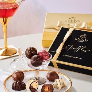 全场8折 巧克力礼盒$4.76起独家:Godiva 七夕节限时活动 松露巧克力礼盒4颗装仅$10.36