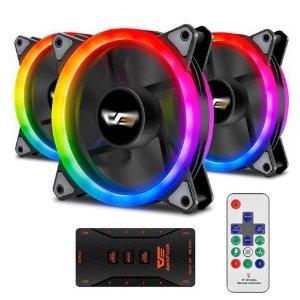 darkFlash Aurora DR12 3IN1 PRO 120mm Addressable RGB LED Case FandarkFlash Aurora DR12 3IN1 PRO 120mm Addressable RGB LED Case Fan