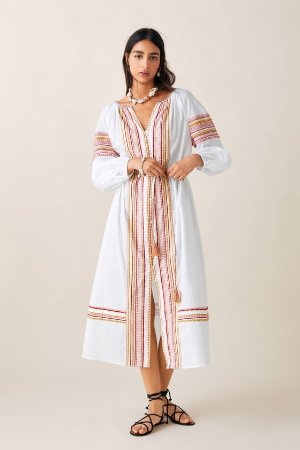 BELTED EMBROIDERED DRESS - Midi-DRESSES-WOMAN-SALE | ZARA United States