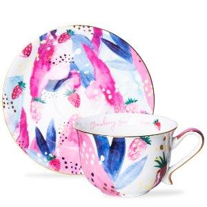 T2 tea茶杯+茶拖套装