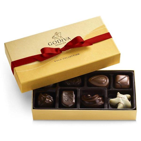 红丝带金装什锦巧克力8颗礼盒