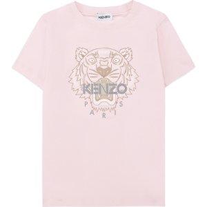 Kenzo淡粉虎头T恤