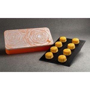 Wing Wah Flow Heart (Lava) White Lotus Seed Paste Mooncake, 8 pcs ( FREE SHIPPING, Presale )