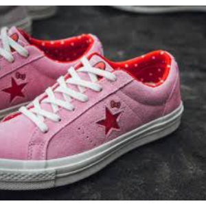 ConverseCONVERSE x Hello Kitty One Star Prism Pink   Firey Red Womens Shoes f6077a709