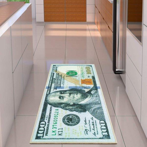 100美元图案地毯