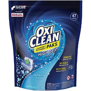 $6Oxiclean Laundry Detergent HD Packs, Sparkling Fresh Scent, 47 Count